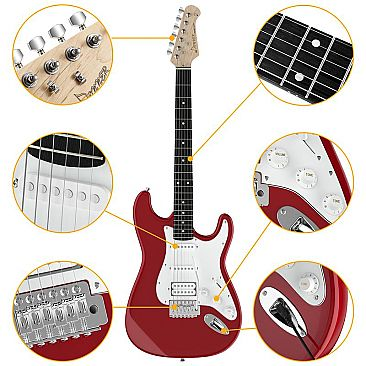 red electric guitar